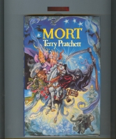 Image for Mort (signed by the author + publicity material).