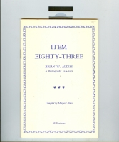 Image for Item Eighty-Three: Brian W. Aldiss: A Bibliography 1954-1972.