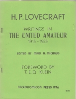 Image for Writings In The United Amateur 1915 - 1925.