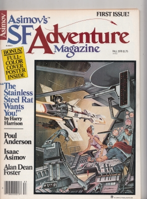 Image for Asimov's SF Adventure Magazine: three of the four issues published.