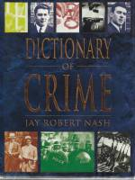 Image for Dictionary Of Crime.