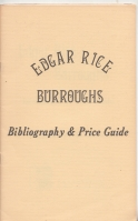Image for Edgar Rice Burroughs Bibliography and Price Guide.