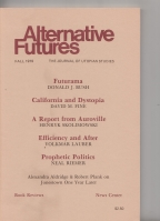 Image for Alternative Futures: The Journal Of Utopian Studies Fall 1979 (vol 2 no. 4).