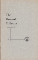 Image for The Howard Collector vol 3 no 1 (whole no 13).