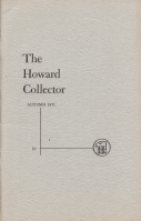 Image for The Howard Collector vol 3 no 3 (whole no 15).