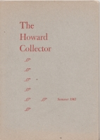 Image for The Howard Collector vol 1 no 1.