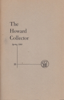 Image for The Howard Collector vol 2 no 4 (whole no 10).