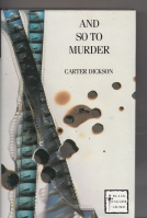 Image for And So To Murder.