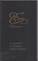 Image for Faunus: The Journal Of The Friends Of Arthur Machen no 27.
