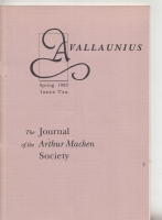 Image for Avallaunius:The Journal Of The Arthur Machen Society no 10.