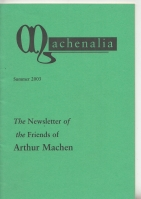 Image for Machenalia: The Newsletter of The Friends of Arthur Machen Summer 2003.