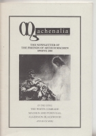 Image for Machenalia: The Newsletter of The Friends of Arthur Machen Spring 2010.