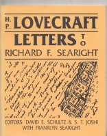 Image for H. P. Lovecraft: Letters To Richard F. Searight.