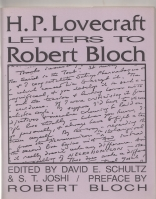 Image for H. P. Lovecraft: Letters To Robert Bloch (+ supplement).