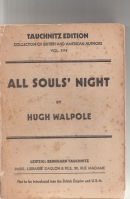 Image for All Soul's Night: A Book Of Stories (Hugh Lamb's copy).
